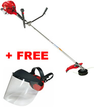 Victus VB260 Straight-Shaft Petrol Brushcutter + Pro Poly Face Screen with Ear Defenders (001000971A) (Special Offer)