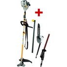 Ryobi RBC30HTA Straight Shaft Petrol Brush Cutter with Free AHF03 Hedgetrimmer Attachment+ Extension Shaft + Pruner (APR04)