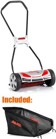 Al-Ko 380HM Soft Touch Premium Hand-Propelled Cylinder Lawn Mower with Collector