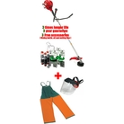 Victus VB260 Straight-Shaft Petrol Brushcutter + Free Pro Poly Face Screen with Ear Defenders (001000971A) + Triple Bonus Offer + Brushcutter Dungarees