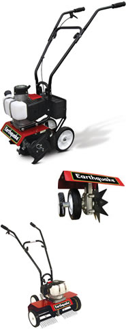 Ardisam Earthquake MC43R 3-in-1 Tiller/Cultivator with Dethatcher + Edger Attachments (Special Offer)