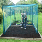Heavy duty fruit cage including netting