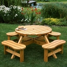 Somerset Round Picnic Bench