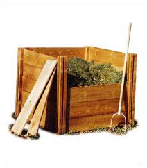 Wooden Modular Compost Bin 4 Sided