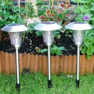 Stainless Steel Solar Lights 4pk