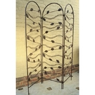 Leaf Design Metal 3 Panel Screen