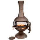 Large Cast Iron Open Bowl Chiminea