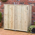 Double Bin Three Sided Wheelie Bin Screen