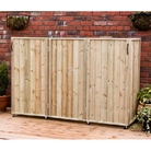 Triple Bin Three Sided Wheelie Bin Screen