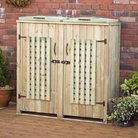 Double Lattice Wheelie Bin Tidy