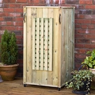 Single Bin Lattice Three Sided Wheelie Bin Screen