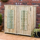 Double Bin Lattice Three Sided Wheelie Bin Screen