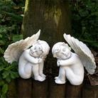 Pair of Cherubs Garden Ornaments