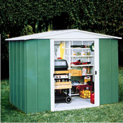 Rowlinson Metal Apex Shed 8x7
