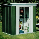 Rowlinson Metal Pent Roof Shed 6x4