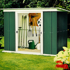 Rowlinson Metal Pent Roof Shed 8x4