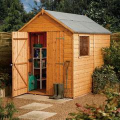 Rowlinson Shiplap Apex FSC Garden Shed 8'x6'
