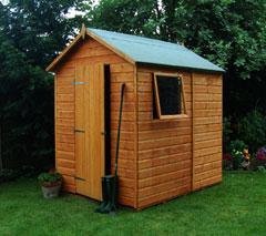 Rowlinson Premier Shiplap Apex FSC Garden Shed 7'x5'