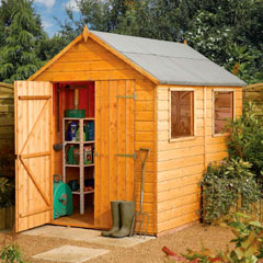 Rowlinson Premier Shiplap Apex FSC Garden Shed 8'x6'