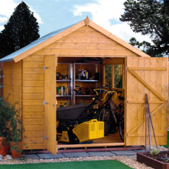 Rowlinson Premier Shiplap Apex FSC Garden Shed 10'x6'