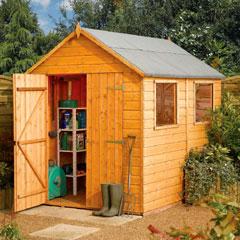 Rowlinson Premier Shiplap Apex FSC Garden Shed 10'x8'