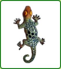 Cast Iron Gecko Tealight Lantern
