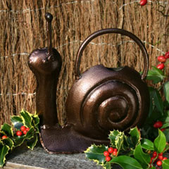 Bronze Snail Watering Can 1 litre