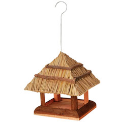 Hanging Thatch Bird Table
