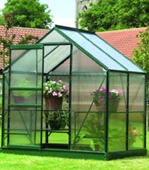 Gardman Green-Framed Aluminium Greenhouse 4'x6'
