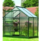 Gardman Green-Framed Aluminium Greenhouse 4'x6'