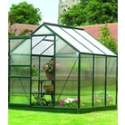 Gardman Green-Framed Aluminium Greenhouse 6'x6'