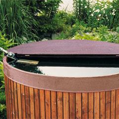Wooden Rainwater Butt Lid 200lt