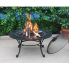 Black Marble Effect Fire Pit