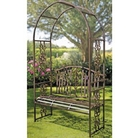 Ornamental Garden Bench Arch
