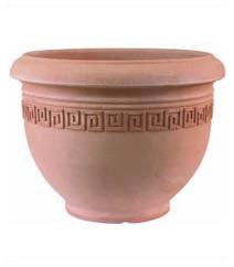 Greek Key Plant Pot