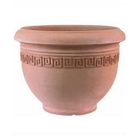 Greek Key Plant Pot