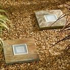 Slate Step Stone Lights - 2 pack