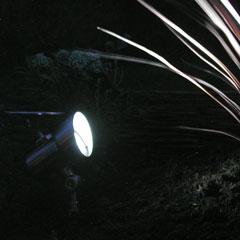 Set of 2 Stainless Steel Solar Garden Spot lights