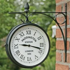 Dual Face Garden Clock