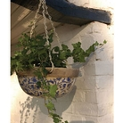 Aged Ceramic Hanging Basket