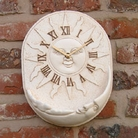 Sun / Moon Clock With Bird Feeder - Gold Effect Finish