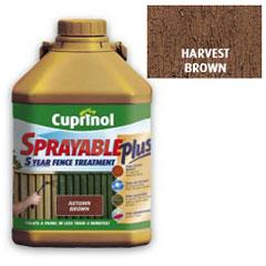 Cuprinol Sprayable Plus Harvest Brown 5L
