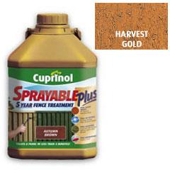 Cuprinol Sprayable Plus Harvest Gold 5L