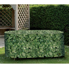 Camouflage Medium Oval Patio Set Cover
