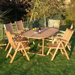 White Oak Chequer Table & Chair Set