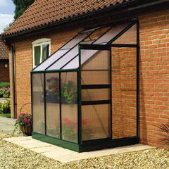 Gardman 4' x 6' Aluminium Lean-to Greenhouse
