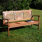 Sunshine FSC Acacia 3 Seater Garden Bench