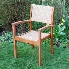 Santa Monica Poly Rattan and FSC Wood Garden Chair
