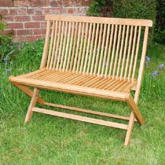 FSC White Oak Folding Bench