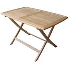 White Oak Rectangular Folding Table